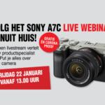 Sony A7C live stream 22 januari 2021