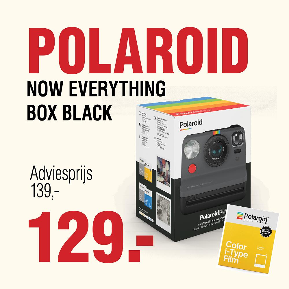 Polaroid Now everything box black
